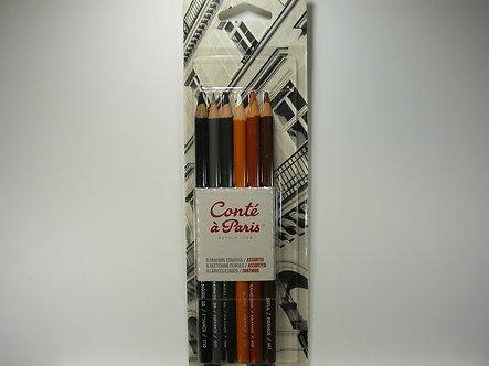 Conte A Paris Sketching Pencils - Assorted.