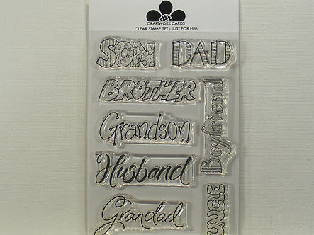 Craftwork Cards - Just For Him Acrylic Stamp Set