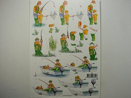 Fishing 3D Decoupage Sheet
