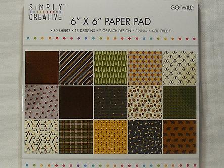 "Simply Creative - Go Wild 6"" x 6"" Paper Pad"