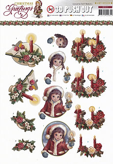Amy Design - Christmas Greetings 3D Decoupage Sheet