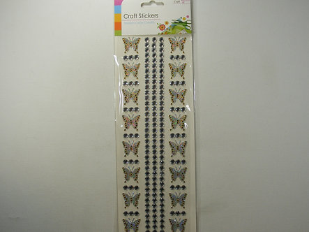 Craft - Butterfly Stickers (Gold)
