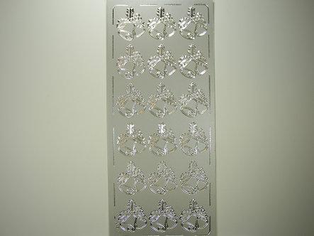 AP Crafts - Christmas Bells Peel Offs (Silver)