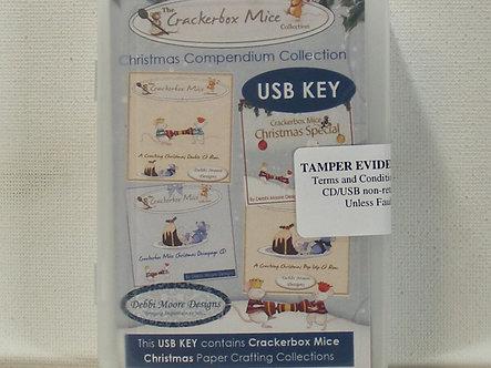 Debbi Moore - Crackerbox Mice Christmas Mini USB Key