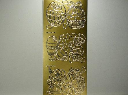 Goldlabel - Easter Peel Offs Eggs & Baskets (Gold)