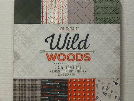 "Love To Craft - Wild Woods 6"" x 6"" Paper Pad."