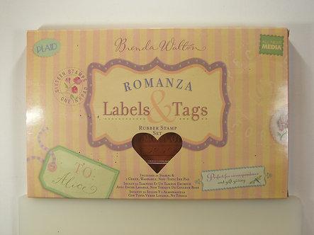 Brenda Walton - Romanza Labels & Tags Rubber Stamp Set.