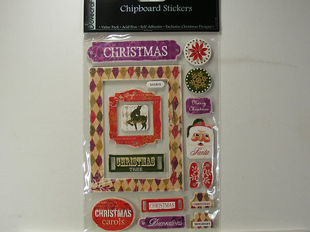 Dovecraft - Christmas Chipboard Stickers