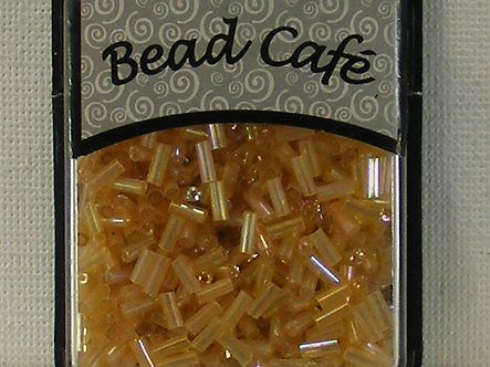 Bead Cafe - Vintage Gold Glass Bugle Beads 6mm