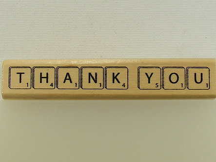 Anita's - Thank You Wood Mounted Rubber Stamp