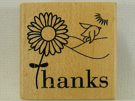 Anita's - Thanks Mounted Rubber Stamp