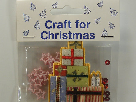 Craft For Christmas - Present With Stars & Sequins