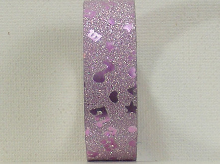 Craft Washi Tape - Lilac Music Notes Design.