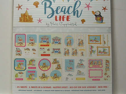 "Helz Cuppleditch - Beach Life 8"" x 8"" Decoupage Pad"