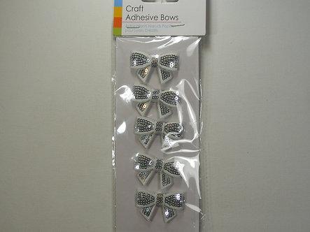 Sifcon - Craft Adhesive Bows (Silver).