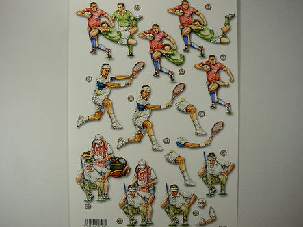 Craft UK - Decoupage Trio Rugby, Tennis, Golf