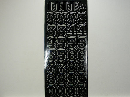 CraftCreations - Number Peel Offs (Black)