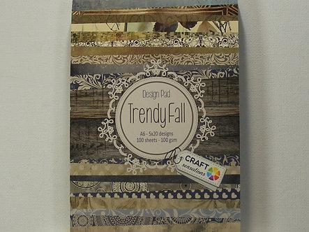 Craft Sensations - Trendy Fall A6 Design Pad.