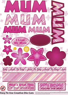 Craft Creations - Mum Toppers (Pinks)