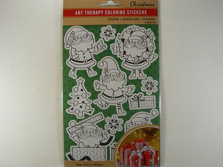 Christmas Art Therapy Colouring Stickers