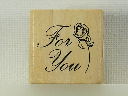 Anita's - For You Mounted Rubber Stamp