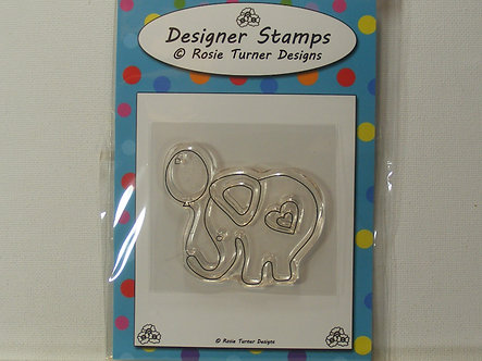 Rosie Turner Designs - Little Elephant Clear Acrylic Stamp