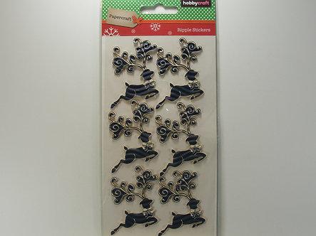 Hobbycraft - Blue Reindeer Ripple Stickers