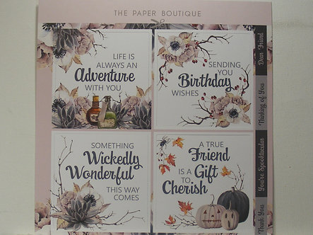 Paper Boutique - Wickedly Wonderful Topper Sheet