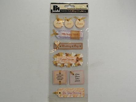Papermania - Handmade Embellishments - Wedding Messages.