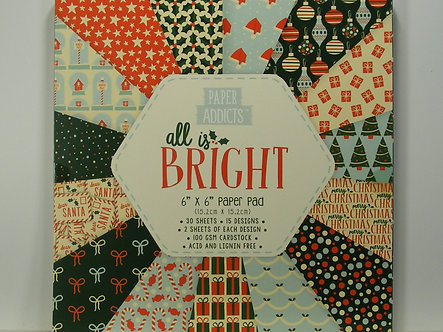 """Paper Addicts - All Is Bright 6"""" x 6"""" Pad"""