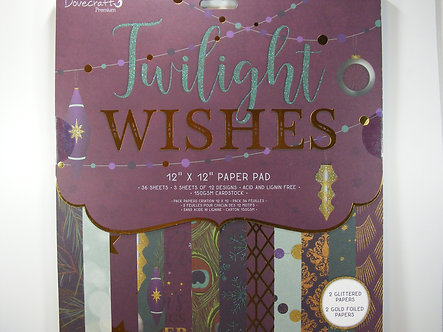 """Dovecraft - Twilight Wishes 12"""" x 12"""" Paper Pad"""