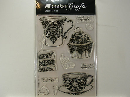 Kanban - Coffee Shop Acrylic Stamp Set