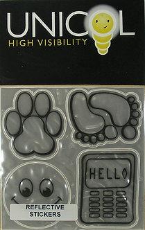 Unicol Hi Vis Stickers - Fun Icons Silver