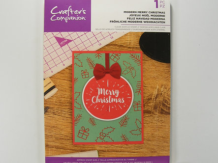 Crafters Companion - Modern Merry Christmas Stamp