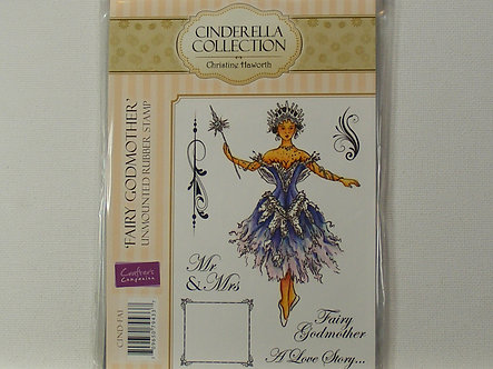 Crafters Companion - Cinderella Collection - Fairy Godmother Rubber Stamp
