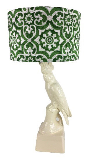 Gloss White Cockatoo Lamp