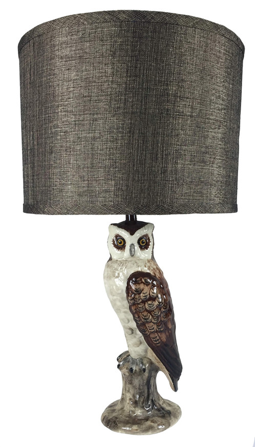 Owl table lamp australian ceramic art by studio australia mozeypictures Choice Image