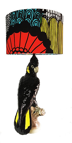 Yellow-Tailed Black Cockatoo Table Lamp