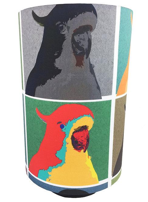 Barrel Lamp - Pop Art Cockatoos