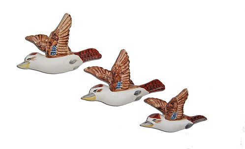 Flying Ceramic Kookaburras