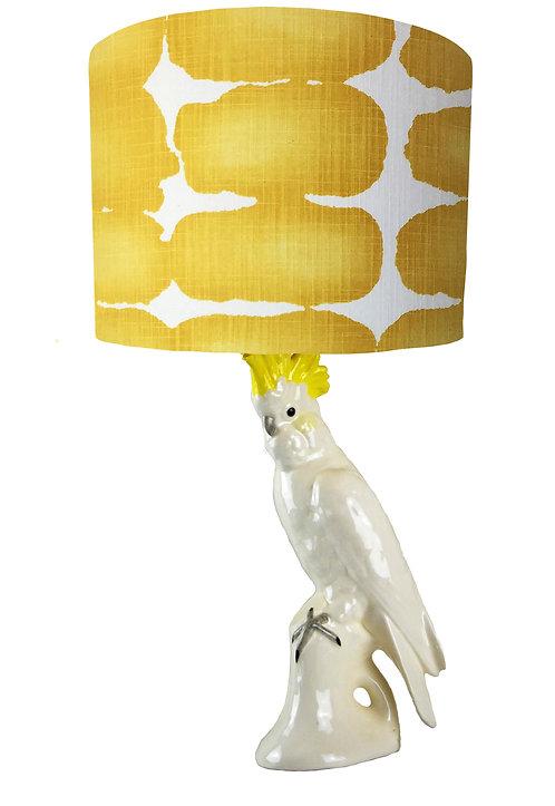 Ceramic Cockatoo Bird Lamp