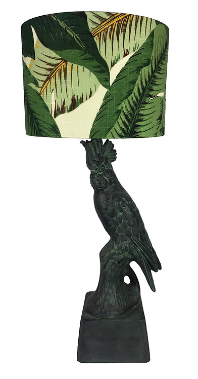 Antique Verdigris Cockatoo Lamp