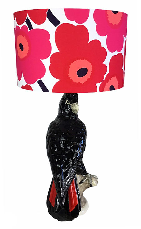 Red Tail Black Cockatoo Lamp