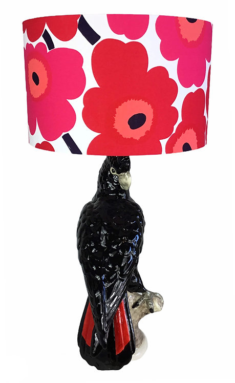 Red-Tailed Black Cockatoo Table Lamp