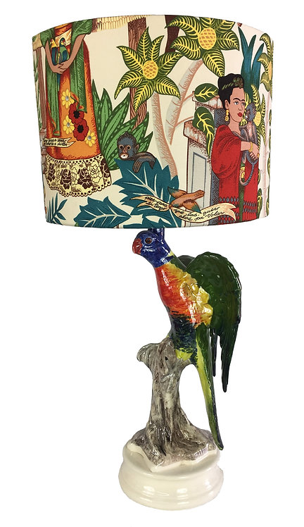 Lorikeet Lamp with Frida Shade