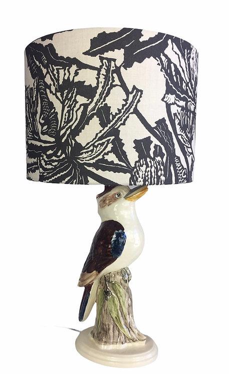 Kookaburra with Gumleaves Lamp - Medium