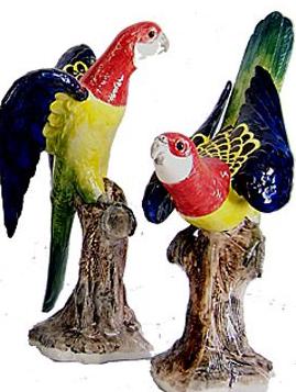 Australian Ceramic Parrots