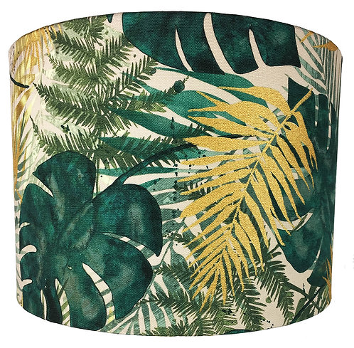 Tropical Palm Leaves Lampshade
