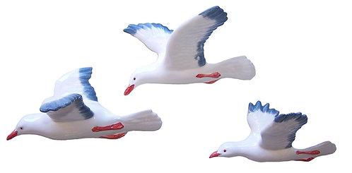 3 Flying Seagulls