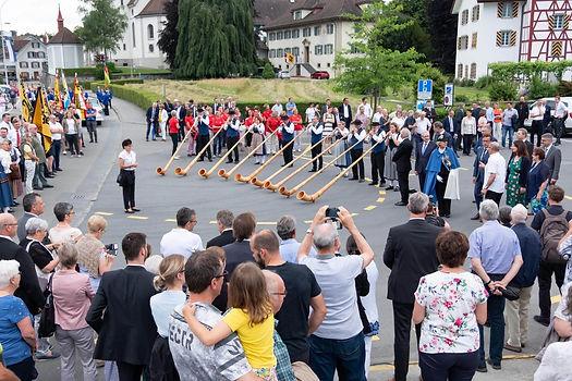 Empfang vom Kantonsratspräsident Josef Wyss in Eschenbach